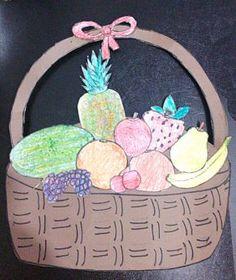 Paper plate fruit basket craft for kids toddler girl room fruit basket craft idea for kids crafts and worksheets for preschooltoddler and kindergarten negle Images