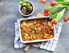 pečená kuřecí stehna se zeleninou Kung Pao Chicken, Tandoori Chicken, Chicken Wings, Food And Drink, Turkey, Meat, Ethnic Recipes, Blog, Blogging