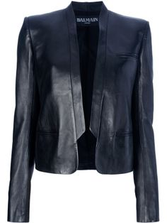BALMAIN short leather jacket by Banphrionsa