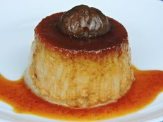 Flan de castañas listo para servir Brie, Deli, Mousse, Panna Cotta, Pudding, Dishes, Sweet, Desserts, Recipes