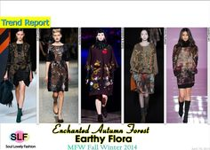 Earthy Flora #FashionTrend for Fall Winter 2014 at #MFW #Prints #Trends #FW2014 #Fall2014