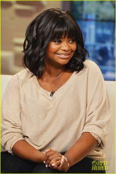 Cute hair... Octavia Spencer