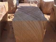 Aussie Sandstone - Banded Sandstone Blocks, Yellow Sandstone Blocks