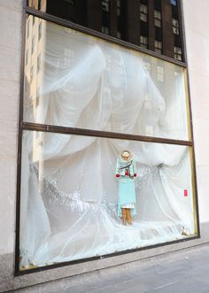 ANTHROPOLOGIE store window in Manhattan. #retail #merchandising #window_display
