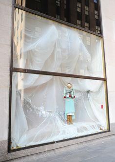 ANTHROPOLOGIE store window in Manhattan. #retail #merchandising #window_display