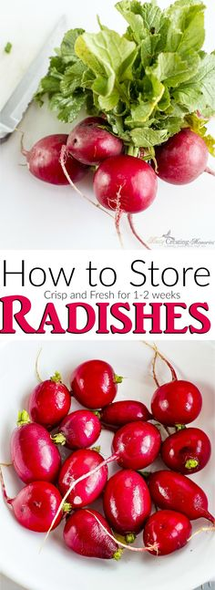 Love Radishes? This simple Homemaking hack can keep Radishes crisp and fresh in the fridge for 1-2 weeks. Simple How to store Radishes tips and video included. #PGDetailsMatter #IC AD