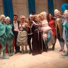 Con il Cast della Cenerentola di Rossini al Teatro dell'Opera di Roma