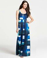 Tall Art Stripes Tank Maxi Dress - By land or by sea, we love the artful print and floor-length silhouette of this wear-anywhere maxi. Scoop neck. Sleeveless.
