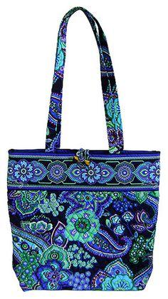 Vera Bradley Blue Rhapsody Book Tote Handbag Bag Purse Gift New