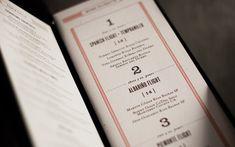 Palomino Restaurant Identity -menu