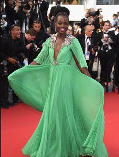 Lupita on the La Tete Haute red carpet at Cannes 2015