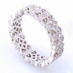 R614-D,D #beverlyk #wedding #weddingring #weddingband #stack #stackable #stackrings #stackingrings #stackablerings