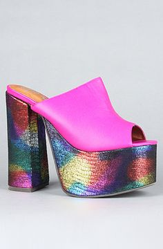The Archie Shoe in Neon Fuchsia Multi by Jeffrey Campbell at karmaloop.com