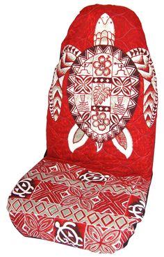 Red Sea Turtle (Honu) Hawaiian Car Seat Cover