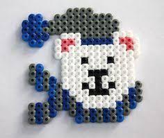 「hama perler fuse bead polar bear」の画像検索結果