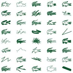 Peter Saville abstracts Lacoste's crocodile logo for Holiday Collector polo shirts