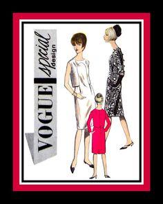 Vintage 1960s Couture Mod Dress VOGUE by FarfallaDesignStudio, $55.00
