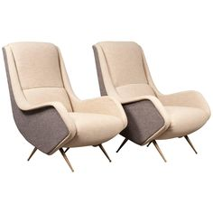 Glamorous Pair of Isa Armchairs | From a unique collection of antique and modern armchairs at https://www.1stdibs.com/furniture/seating/armchairs/