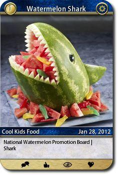 National Watermelon Promotion Board   Shark  source: http://www.watermelon.org/Carvings/Shark-30.aspx