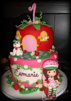 """Eaton Cakes"" by Lisa Eaton 6th Birthday Parties, Baby First Birthday, 1st Birthdays, Birthday Ideas, 4th Birthday, Birthday Cakes, Strawberry Shortcake Theme Cake, Cake Cookies, Cupcakes"
