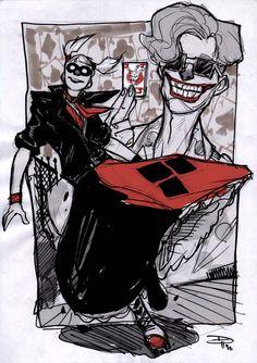 Harley Quinn and Joker - Rockabilly Universe by ~DenisM79 on deviantART