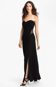 Hailey by Adrianna Papell Embellished Jersey Gown available at Nordstrom -- FOP Ball 2013 Black Prom Dresses, Strapless Dress Formal, Casual Dresses, Fashion Dresses, Formal Dresses, Dress Prom, Sequin Dress, Lace Dress, Cheap Summer Dresses