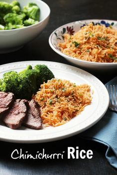Chimichurri Rice takes cilantro, garlic, and spicy pepper, and blends it into a delicious rice side dish, reminiscent of the Argentinian condiment. Real Food Recipes, Cooking Recipes, Healthy Recipes, How To Cook Chili, Chicken Rice Recipes, Pasta Recipes, Homemade Chicken Stock, Rice Side Dishes, Cooking On A Budget