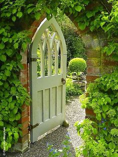 Simple and Modern Tricks Can Change Your Life: Country Garden Ideas Backyards backyard garden design tutorials.Patio Garden Ideas With Firepit backyard garden fountain water walls.Garden Ideas Pots Self Watering. Garden Entrance, Garden Doors, Garden Arches, Garden Gates And Fencing, Garden Paths, Fences, Garden Structures, The Secret Garden, Secret Gardens