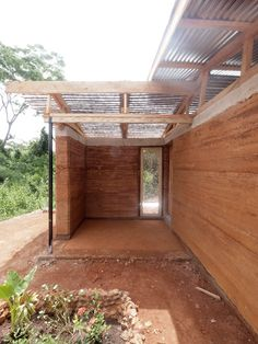 This home in rural Ghana was built from rammed earth and recycled plastic