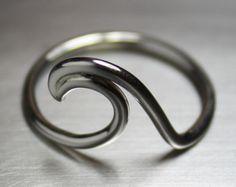 Wave Ring, Beach Jewelry, Surfer Ring, Nautical Jewelry