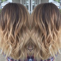 Blonde balayage and long bob