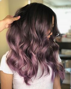 The 3 Hair Color Trends That Are Already A Hit In 2019 Hair Color purple hair color Lavender Hair, Lilac Hair, Hair Color Purple, Hair Color For Black Hair, Cool Hair Color, Gray Color, Color Shades, Gray Hair, Purple Brown Hair
