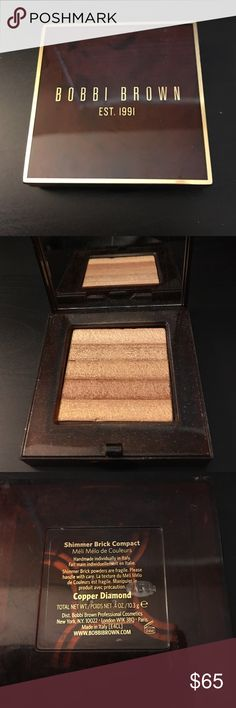 BOBBI BROWN SHIMMER BRICK IN COPPER DIAMOND Highlighter. Limited edition. Selling for $65. Only used a couple times . Bobbi Brown Makeup Luminizer