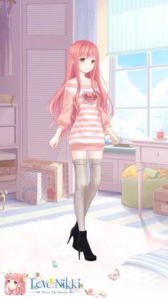 Love Nikki dress up queen Cute Anime Chibi, Chica Anime Manga, Fashion Games, Fashion Outfits, Nikki Love, Normal Girl, Anime Dress, Dress Drawing, Fantasy Dress