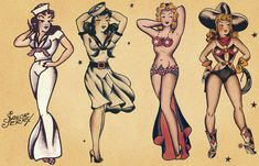 sailor jerry tattoo Yhese would be perfect in a mosaic!