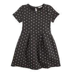 Girls' pleated dress in polka dot
