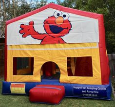 We offer free delivery within a radius of Cooroy & provide quality jumping castles to Gympie Council and Sunshine Coast Council residents. Party Hire, Obstacle Course, Basketball Hoop, Sunshine Coast, Elmo, Sun Protection, Castles, Book, Happy