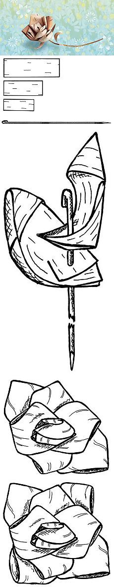 Как сделать розочку из бересты