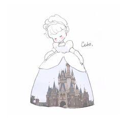 この前ディズニーランドに行ってきました。💕 余韻に浸ってるのでディズニーの イラスト沢山描きますね♡ Cute Kawaii Drawings, Kawaii Art, Pretty Art, Cute Art, Cute Backgrounds, Sanrio Characters, Kawaii Wallpaper, Cute Illustration, Art Sketches
