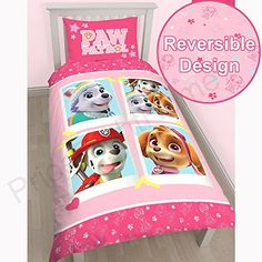 Paw Patrol Stars SingleUS Twin Duvet Cover and Pillowcase Set  Panel Design -- Click image for more details.