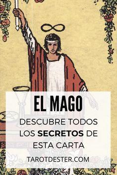 El Mago es una de las cartas de Tarot más misteriosas. Es el I Arcano Mayor. Descubre todos los secretos y significados pulsando la imagen. Tarot Significado, Witch, Peace, Magick, Tarot Decks, Tarot Cards, Tarot Spreads, Hipster Stuff, Horoscope