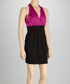Take a look at this Orchid & Black Dress by Grayson on #zulily today!