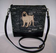 A personal favorite from my Etsy shop https://www.etsy.com/listing/497887728/pug-cross-body-bag-made-to-order