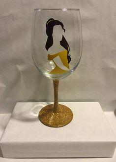 Belle Disney Beauty and the Beast inspired wine by GirlMeetsGinger $9.50