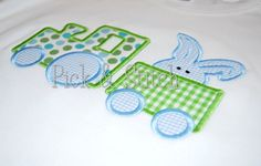 Easter Bunny Train Applique Machine Embroidery by pickandstitch, $4.00