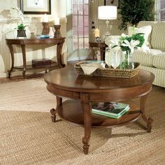Magnussen T1052 Aidan Wood Round Coffee Table - T1052-45
