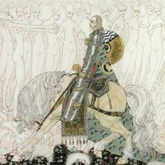 "Here we show a portion of ""Knight Olaf"" by Kay Nielsen, an illustration inspired by a traditional Danish ballad."