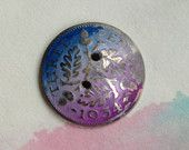 Handmade three pence coin button - Bits of NikNats