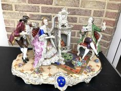 German porcelain group from 1930 in good condition. Discover more beautiful items from Johan Doomen's collection, a professional Belgian antique dealer, on Transferantique. Gingerbread, German, Porcelain, Group, Antiques, Beautiful, Collection, Things To Sell, Deutsch