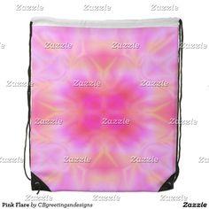 Pink Flare Drawstring Bag